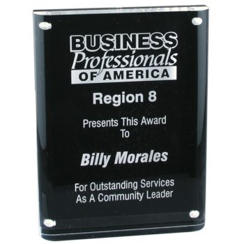 Black Magnet Acrylic Award
