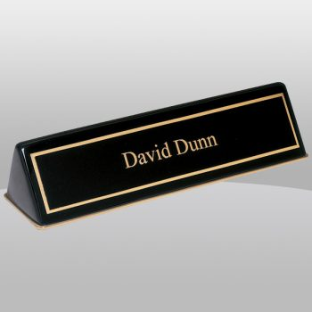 Black Piano Finish Name Plate Holder