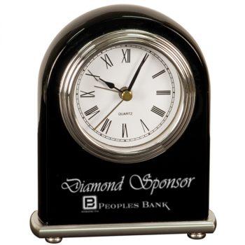 Black Silver Arch Desk Clock