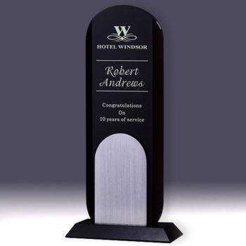 Black Silver Crystal Tower Award