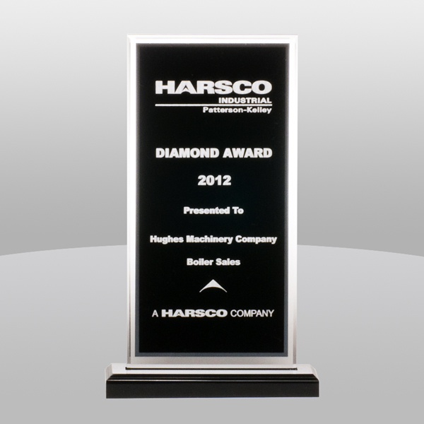 Black Silver Mirror Acrylic Award