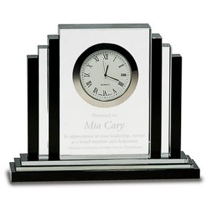 Black and Clear Crystal Clock
