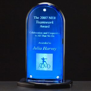 Blue Arch Magnetic Acrylic Award