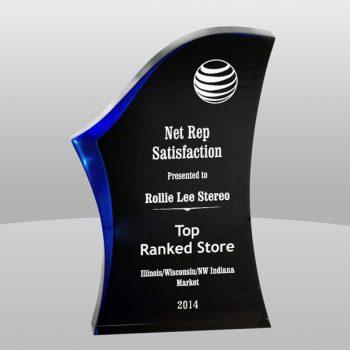 Blue Luminary Surge Acrylic Award