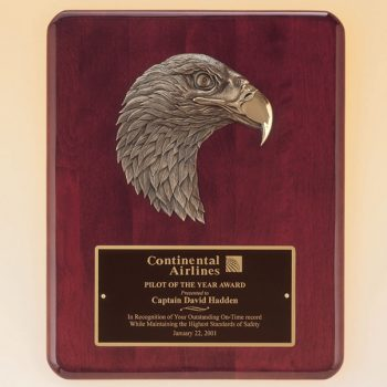 Bronze Eagle Rosewood Plaque