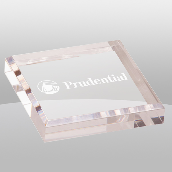 Clear Acrylic Paperweight