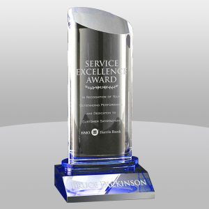 Clear Blue Krave Crystal Award