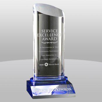 Clear Blue Krave Crystal Award