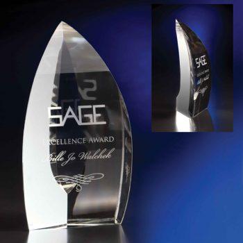 Clear Nirvana Crystal Award