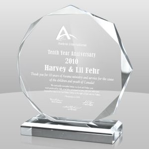 Clear Octagon Acrylic Award