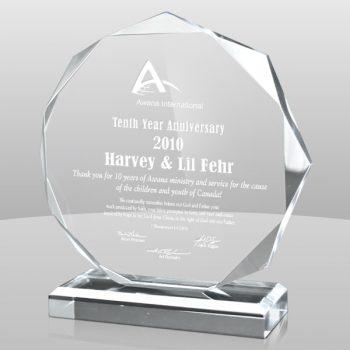 Clear Octagon Acrylic Award