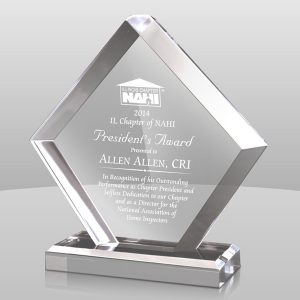 Clear Pentagon Acrylic Award
