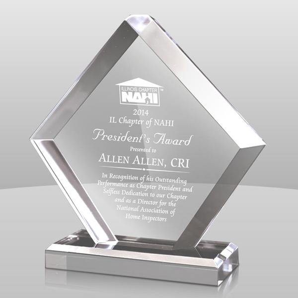 Clear Pentagon Acrylic Award