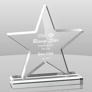 Clear Star Acrylic Award