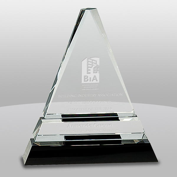 Clear and Black Triangle Award