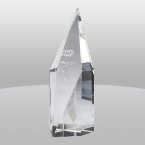 Diamond Facet Optical Crystal Tower