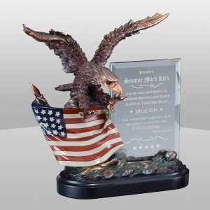 Eagle Flag Glass Award
