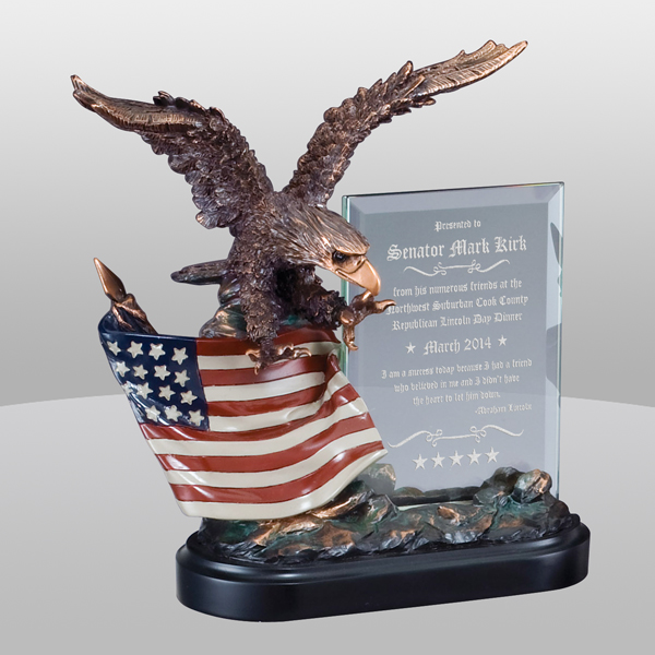 Eagle Flag Glass Award