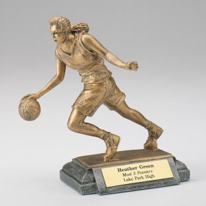 Female Basketball Resin Figurine
