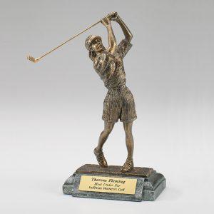 Female Golfer Resin Figurine