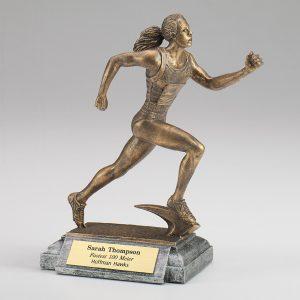 Female Runner Resin Figurine