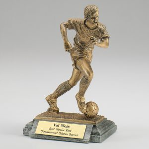 Female Soccer Resin Figurine