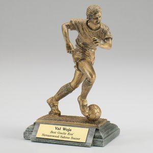 Female Soccer Resin Figurine