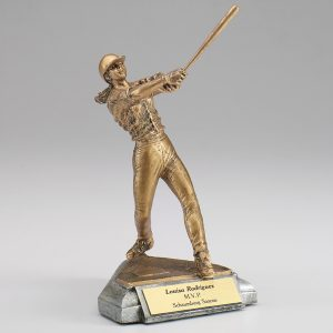 Female Softball Resin Figurine