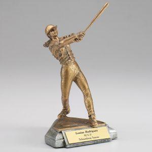 Female Softball Resin Figurine