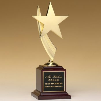 Gold Star Rosewood Trophy