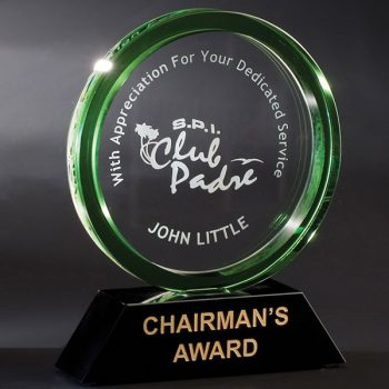 Green Halo Crystal Award