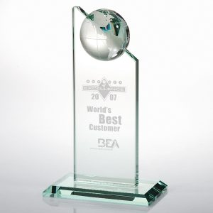 Jade Globe Crystal Award