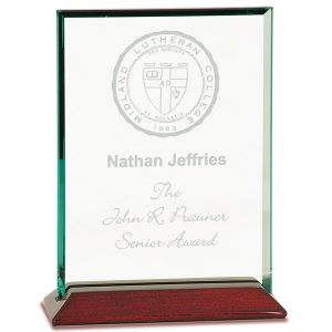 Jade Rosewood Glass Award