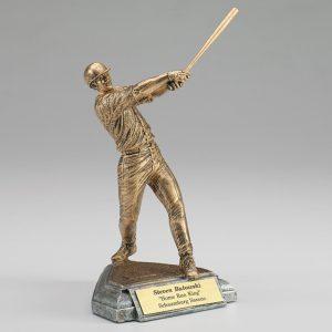 Male Baseball Resin Figurine