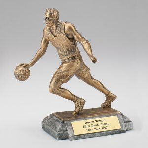 Male Basketball Resin Figurine