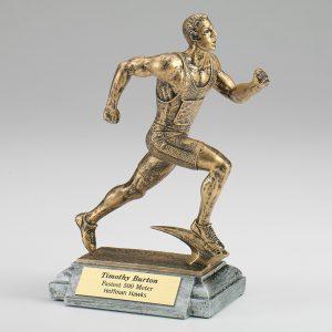 Male Runner Resin Figurine