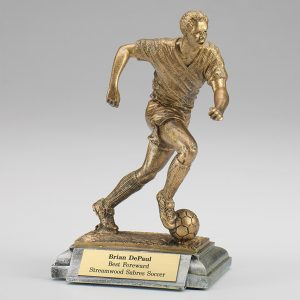 Male Soccer Resin Figurine