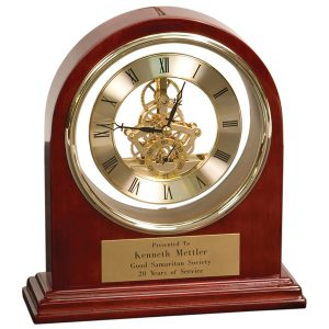 Rosewood Gold Arch Grand Desk Clock