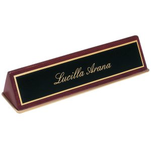 Rosewood Piano Finish Name Plate Holder