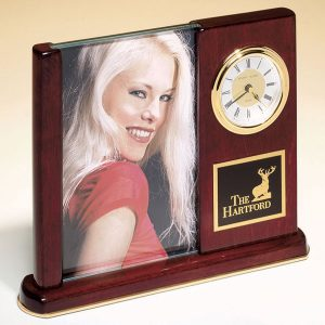Rosewood Picture Frame Clock