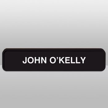 Rounded Black Wall Name Plate