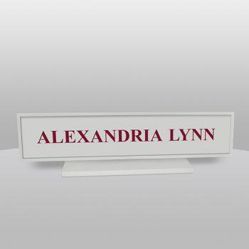 Square Gray Desk Name Plate