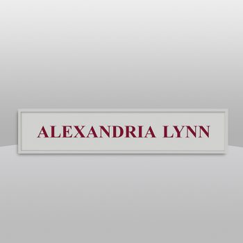 Square Gray Wall Name Plate