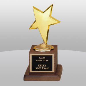 Star Casting Walnut Base Trophy