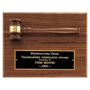 Walnut Gavel Plaque