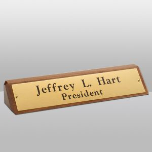 Walnut Name Plate