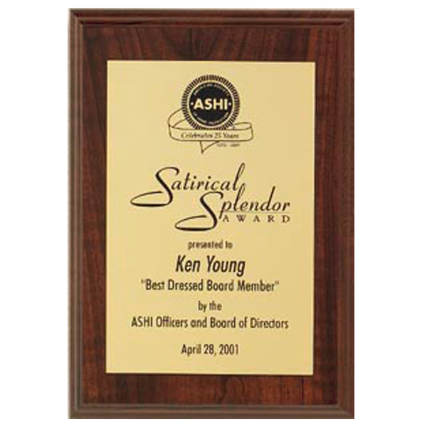 Walnut Veneer Plaque