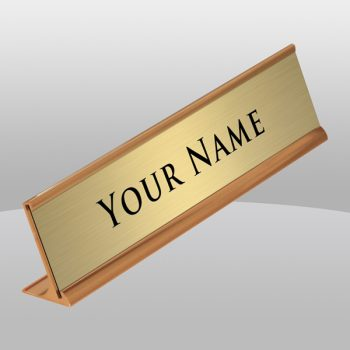 Gold Desk Nameplate