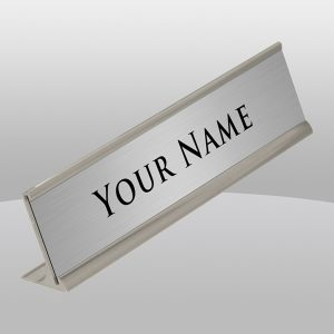 Silver Desk Nameplate