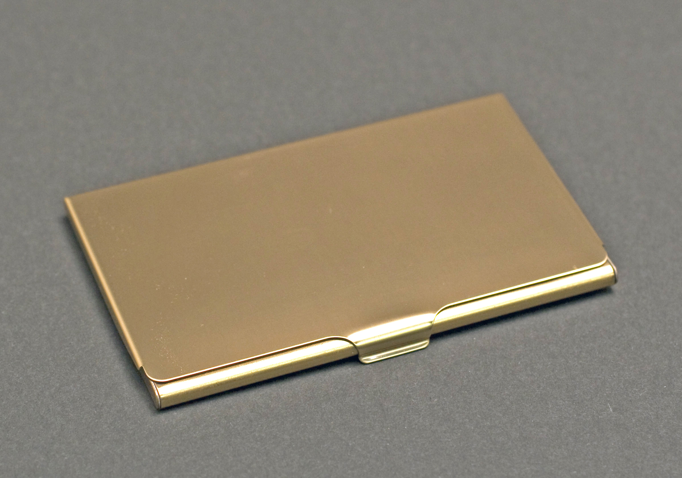 gold brass business card holder  the finer line inc